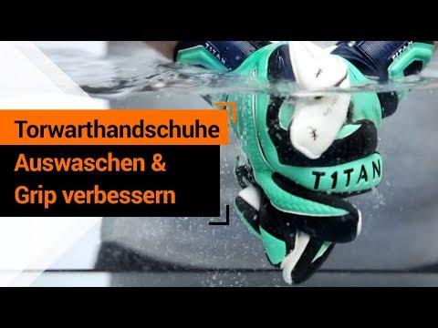 Torwarthandschuhe auswaschen & Grip verbessern - T1TAN Tipps