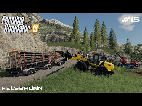 Transporting 12m logs | Forestry on Felsbrunn | Farming Simulator 19 | Episode 15