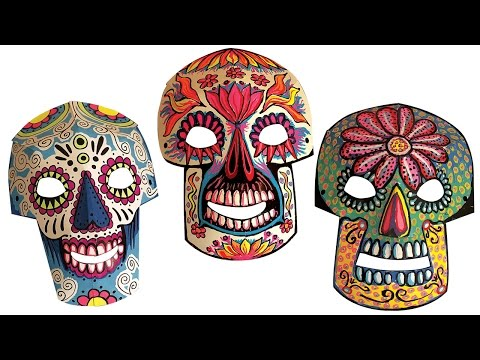 Day of The Dead Paper Mask - Project #144