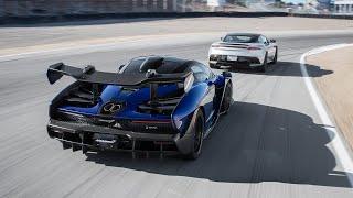 Aston Martin DBS Superleggera vs. McLaren Senna—2019 BDC Hot Lap Matchup by Motor Trend