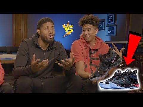 1v1 BASKETBALL WAGER vs. NBA SUPERSTAR Paul George! RARE NIKE PG2 SNEAKER REVEAL!