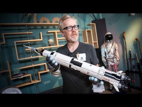 Adam Savage Will Smith and Norman Chan Build a LEGO Model of the NASA Apollo Saturn V