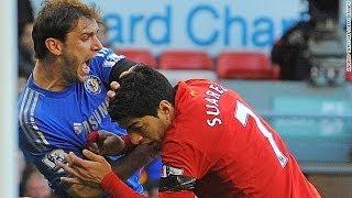 Die drei Beißattackend des Luis Suarez