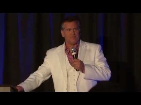 Bruce Campbell at Dallas comic con Fan Day Oct 2012 Part 1 of 4