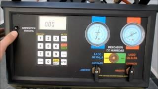 Estación de aire acondicionado R134a
