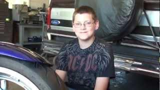 9. VTX1800 tire change