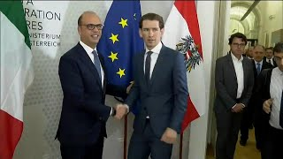 Austria's Foreign Minister Sebastian Kurz says Italy should stop allowing illegal migrants from reaching the mainland. He said ...
