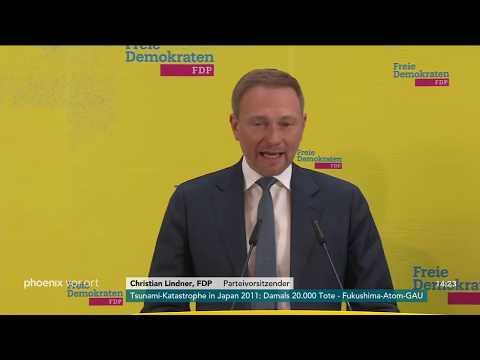 Pressekonferenz der FDP mit Christian Lindner am 11.0 ...