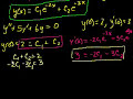 2nd Order Linear Homogeneous Differential Equations 3 Video Tutorial