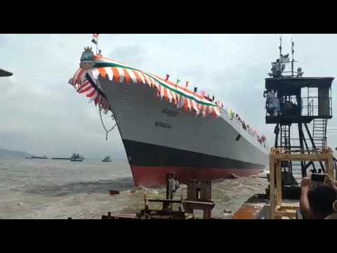 The Proud Moment Has Arrived: Watch The Launch of Mormugao Warship