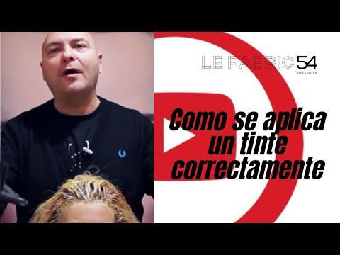 Como se aplica un tinte correctamente – Applying Permanent Hair Color