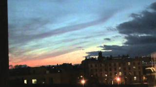 Beautiful evening Saint-Petersburg Timelapse