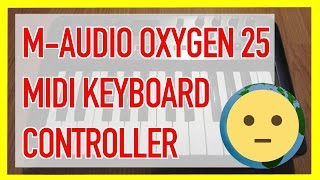 "Review of the M-Audio Oxygen 25 25-key USB keyboard controller.  This is one of the best small keyboard controllers for sale in the price range.  Great for basic home studio production and music creation on the road.  This is the 3rd generation (4th gen) currently available. [Learn more below]Link to M-Audio Oxygen 25 25-Key (USB MIDI Keyboard Controller) in the video: 3rd Gen. - http://amzn.to/1nC3LLI4th Gen. -  http://amzn.to/1WdYENL (smaller, drum pads added)[The link above is an ""affiliate link."" This means if you click on the link and purchase the item, I will receive an affiliate commission. Regardless, I only recommend products or services I use personally and believe will add value to, you, the viewer. I am disclosing this in accordance with the Federal Trade Commission's 16 CFR, Part 255: ""Guides Concerning the Use of Endorsements and Testimonials in Advertising.""]You've got 25 keys; pitch bend and modulation wheel; transport; octave controller; selector advance and knobs.  Some need more keys while others can produce just fine with these.  For bass scoring and drum tracking, these small keyboard controllers are great.  You'll see some artists use these live for bass module controlling.  For basic DAW controlling like Garageband, Pro Tools, Logic, Abelton, etc..., you can't go wrong with this little guy.  You can buy these used for $40 or less.There are smaller keyboard controllers, but it's still great value for the price.  The smaller ones have small mini keys while this one has normal sized key with a small footprint.  It's also great because it is USB powered and, at least for Macs, easy to plug and play with no complicated driver updates.This is a great piece of gear that is perfect for home studios or those getting into music production.  If you're looking for a reasonably priced usb keyboard controller, check out this M-Audio Oxygen 25 3rd generation or 4th generation small laptop keyboard for your DAW (Garageband, Pro Tools, Logic, Abelton, etc...).For more audio and video gear videos, check out our playlist at https://www.youtube.com/playlist?list=PLmL7JMU7aON-qfWY3Jaa41pgPaCbY06Sf.  To make quality videos, you don't have to use the best gear, but knowing what to look for and how to use the equipment you have is all it takes.  Check out the playlist for more camera and audio gear that you may use in your audio / visual projects like lights, camera, sound gear, and other things used to produce videos.  If you have any video requests, don't hesitate to contact via youtube or our socials!  Thank you for watching!For more reviews videos, check out our playlist at https://www.youtube.com/playlist?list=PLmL7JMU7aON-SDPLBkF1XnHYN16Llfd9m.  What would youtube be without tech, unboxings and reviews on all that?!  From games to toys and consumer electronics; you'll find it all here on youtube and some here in my playlist / channel.  Laptops, iPhones, Android devices, we'll check all that out here in our reviews playlist!  Subscribe or check back soon for new videos!  If you have any video requests, go to our about page and click send a message!  Thx for watching!For more info on musical instruments and reviews, check out our website at: http://www.MySuLonE.Com.[NOTE: This is NOT a paid product placement or endorsement; however it has been designated as such in the settings of this video to inform Youtube that an affiliate link is present within the content of this description.]Copyright 2016 MySulone.Com. All rights reserved. All other company, product and/or service names used in this video are solely for the purposes of identification. All trademarks are the property of their respective owners."