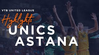 Hightlits of the match — VTB United league: UNICS vs «Astana»