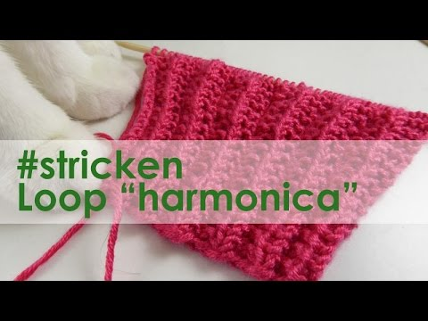 "nadelspiel Adventskalender 2014 * 17. Dezember * Stricken Loop ""Harmonica"""