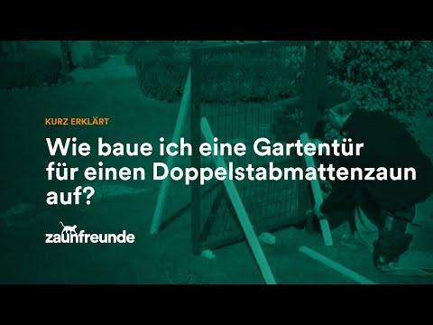 Gartentür für einen Doppelstabmattenzaun - Montageanleitung