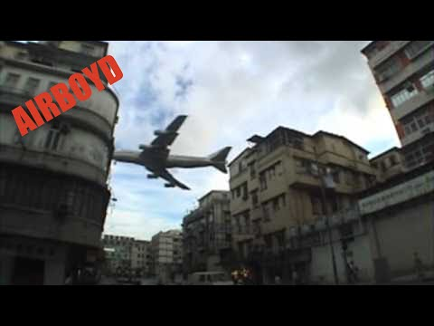 Video: Planes over Hong Kong Landing