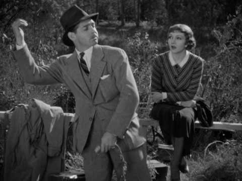 Lessons in Hitchhiking scene - It Happened One Night (1934) HD Clip