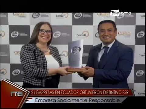 21 empresas en Ecuador obtuvieron distintivo ESR empresa socialmente responsable
