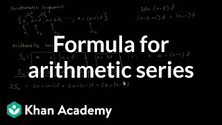 Formula For Arithmetic Series
