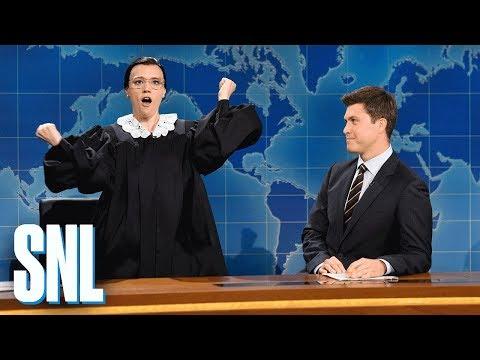 Weekend Update: Ruth Bader Ginsburg on Neil Gorsuch - SNL