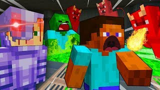 Steve ATTACKED By ROBOT Alex -  MINECRAFT STEVE AND BABY ZOMBIE [30]