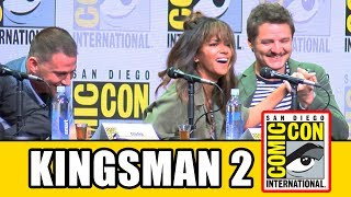 Kingsman The Golden Circle Comic Con panel news & highlights with Taron Egerton, Colin Firth, Halle Berry, Channing Tatum, Jeff Bridges, Pedro Pascal, Jane Goldman, Dave Gibbons & Jonathan Ross.Subscribe for more! ► http://bit.ly/FlicksSubscribeN.B. Footage, clips, previews, trailers & sneak peeks shown at Comic Con panels are not included in this video, as these are not allowed to be filmed. RELATED VIDEOS--------------Kingsman The Secret Service Comic Con Panel ► http://youtu.be/Kwqa4Myv3K4PLAYLISTS YOU MIGHT LIKE------------------------Fox Marvel Movies ► http://bit.ly/FoxMarvelVideosMarvel ► http://bit.ly/MarvelVideosDC ► http://bit.ly/DCVideosStar Wars ► http://bit.ly/StarWarsVidsMovie Deleted Scenes & Rejected Concepts ► http://bit.ly/MovieDeletedScenesEaster Eggs ► http://bit.ly/EasterEggVideosAmazing Movie Facts ► http://bit.ly/ThingsYouDidntKnowVideosPixar ► http://bit.ly/PixarVideosDisney Animation ► http://bit.ly/DisneyAnimationVideosSOCIAL MEDIA & WEBSITE----------------------Twitter ► http://twitter.com/FlicksCityFacebook ► http://facebook.com/FlicksAndTheCityGoogle+ ► http://google.com/+FlicksAndTheCityWebsite ► http://FlicksAndTheCity.comThanks to Comic Con International http://www.comic-con.org/The Kingsman and The Statesman are kicking off Comic-Con 2017. Taron Egerton, Colin Firth, Halle Berry, Channing Tatum, Jeff Bridges and Pedro Pascal will be joined by screenwriter Jane Goldman and Kingsman co-creator and Comic-Con legend Dave Gibbons. The panel will be moderated by Jonathan Ross.