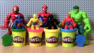 Video Play-Doh Superheroes Marvel Avengers Super Hero Squad Spiderman THOR HULK Wolverine IRON MAN MP3, 3GP, MP4, WEBM, AVI, FLV Juli 2018