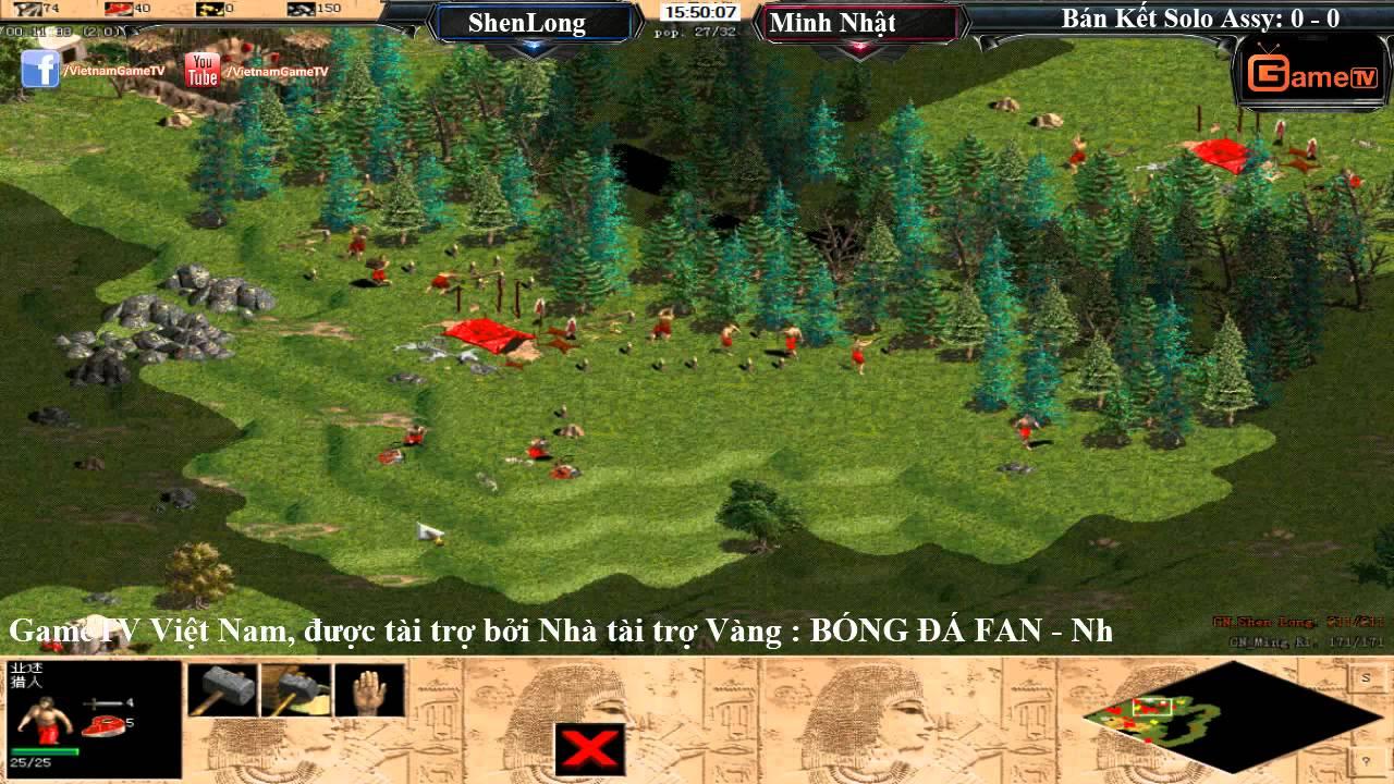 AOE Việt Trung 2015 Bán Kết Solo Assyrian | ShenLong vs Minh Nhật Ngày 14-11-2015 BLV: Bốp Bi