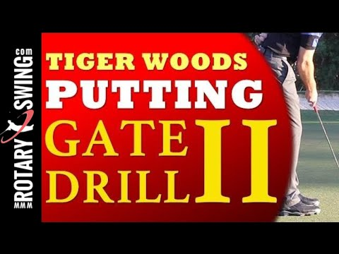 Tiger Woods Putting Gate Drill Part 2 (Golf's #1 Lag Instructor: Clay Ballard)