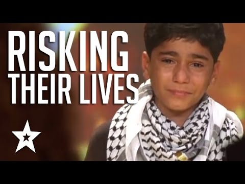 gratis download video - Kids Of Palestine Risk Lives To Show Their Talent Winning Golden Buzzer! العربية حصلت على المواهب