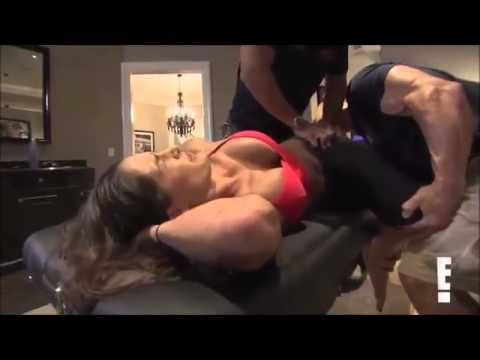 Total Divas Season 1, Episode 7 clip John and NIkki Stretch Together  9/7/13
