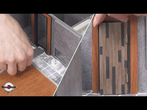 builds movie 'Parasite' house(model) #4 - door & tile work.