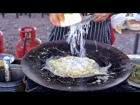 Extremely Butter Rich Bahubali Egg Dish | Multi Layer Buttery Omelette Dishes | Indian Street Food
