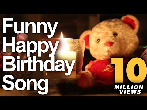 Funny Happy Birthday Song by Cute Teddy Bear