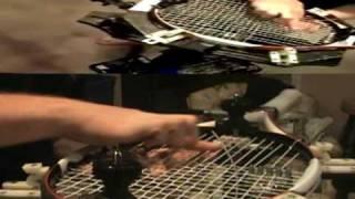 Tennis racket stringing time lapse
