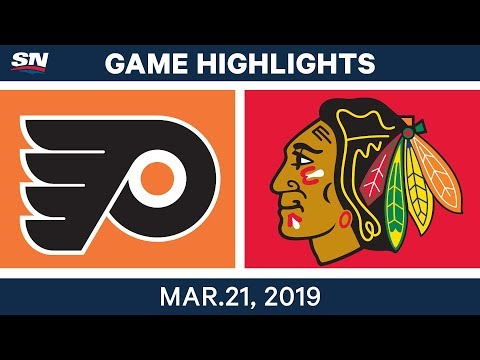 NHL Game Highlights | Flyers vs. Blackhawks - March 21, 2019