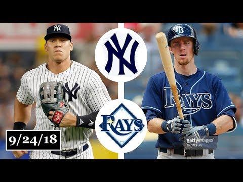 New York Yankees vs Tampa Bay Rays Highlights || September 24, 2018 (видео)