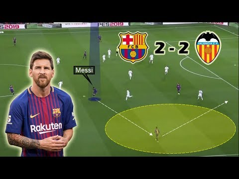 Messi Rescues Barcelona | Barcelona Vs Valencia 2-2 | Tactical Analysis