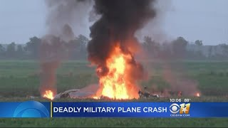 The Marine Corps says it operated the plane but has provided no information on where the flight originated or where it was going.