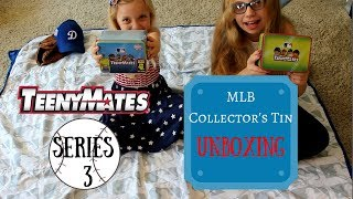 My daughters unbox the TeenyMates MLB Series 3 Collector's Tin. The set includes a collectible tin, MLB stadium display, four packs of TeenyMates and an exclusive glow-in-the-dark MLB umpire. I purchased this item with my own money directly from the TeenyMates website. This is not sponsored. Watch our first TeenyMates Collector's Tin unboxing video! https://youtu.be/_ElXGhr-rbcYou can check out TeenyMates here http://www.teenymates.com/Read me at http://dodgersdigest.com/author/staci...  and  http://www.hardballtimes.com/author/s...Follow me @StacieMWheeler on Twitter https://twitter.com/StacieMWheelerSubscribe to DishingUpTheDodgers!Go Blue!
