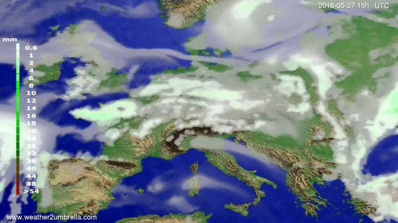 Precipitation forecast Europe 2016-05-24