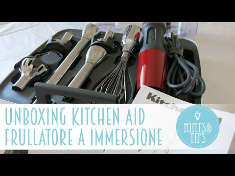 UNBOXING : Frullatore ad immersione Kitchen Aid modello 5KHB2571EER