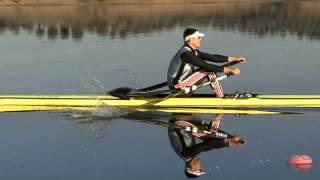 Here, Marcel Hacker uses Shimano rowing shoes and stretchers. SRD improves rowing technique by offering more accuracy and...