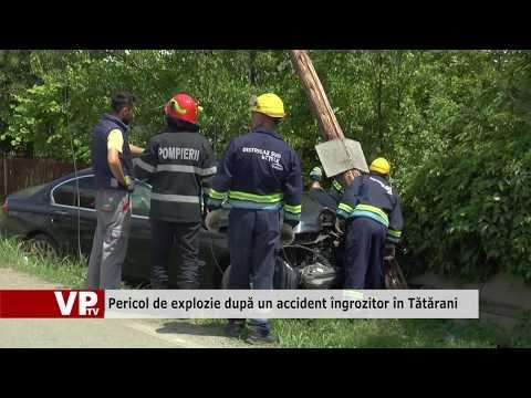 Pericol de explozie după un accident îngrozitor în Tătărani