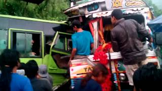Benighat Nepal  city pictures gallery : Truck and Bus Accident From:Dhading Benighat