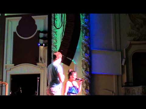 Download Tyler Hanes singing the end of Defying Gravity with Idina Menzel in Pittsburgh HD Mp4 3GP Video and MP3