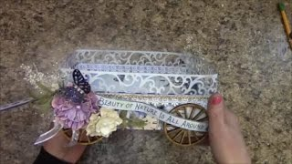 Free Tutorial for beginners or intermediate crafters.  This Caddy Wagon's sturdy design has a variety of uses.  Home décor - Store your hand towels, soap, etc in the wagon, display in your bathroom for guests.  Use in your kitchen to hold your fruit.  Skies the limit on what you can do.  Materials for this tutorial can be purchased at my store www.jshobbiesandcrafts.com.  Be sure to visit both my facebook pages  Designs by Shellie or J & S Hobbies and Crafts.  Always something new posting whether it be new products, tutorials, craft ideas, or fun facts, there's something for everyone there.