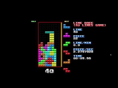 Tetris 40 lines speedrun in 53.08 seconds (Nullpomino)