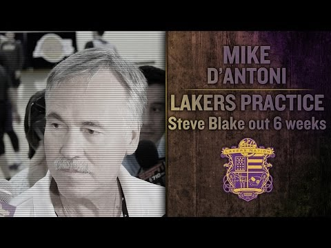 Video: Lakers Practice: Mike D'Antoni Says Kobe Bryant Will Be Point Guard In Steve Blake's Absence